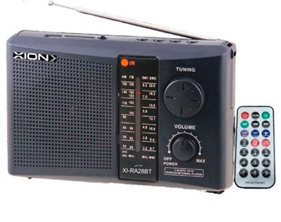 Imagen de Radio Portatil Xion Bat Recargable Bluetooth Usb Sd Ra28