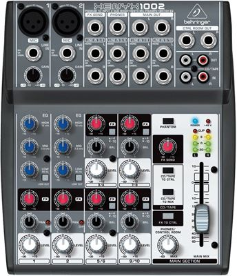Imagen de Consola Behringer Xenyx 1002 2 Canales Cannon + 4 Stereo