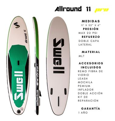 Imagen de Tabla Inflable Sup Swellboards Allround Pro 11