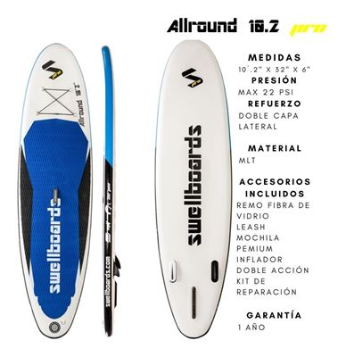 Imagen de Tabla Inflable Sup Swellboards Allround Pro 10.2